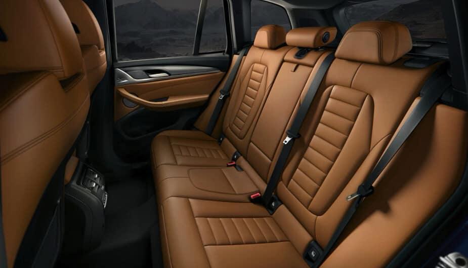 2018 BMW X3 rear seating