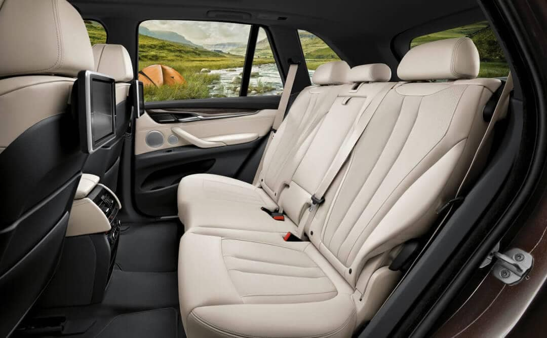 2018 BMW X5 rear seats