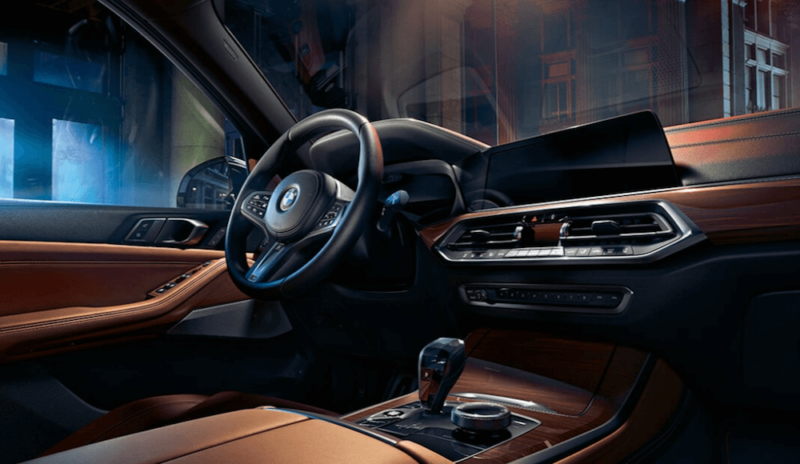 2019 BMW X5 interior dashboard and steering wheel
