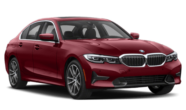 2020 BMW 3-Series red car frontview