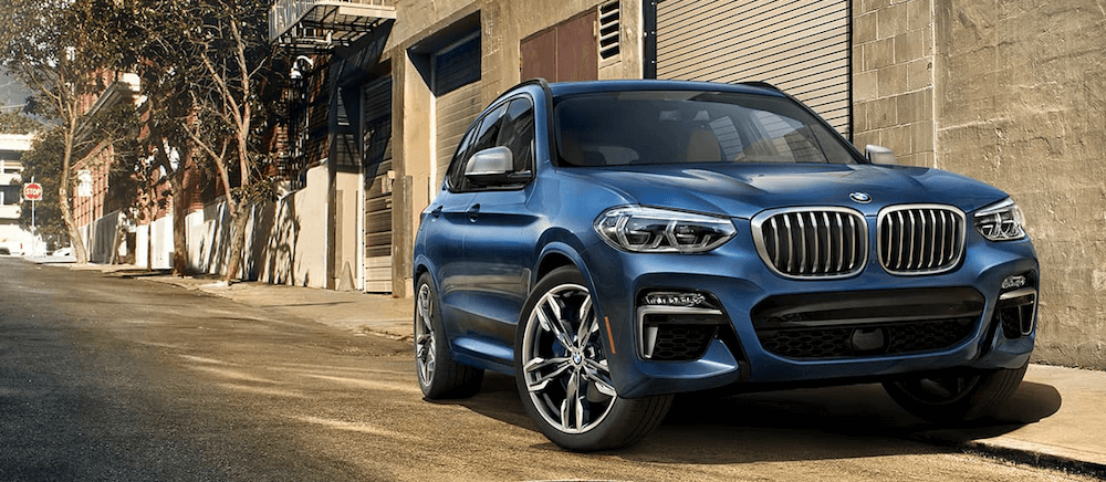 2020 BMW X3 sDrive30i parked on New York street curb