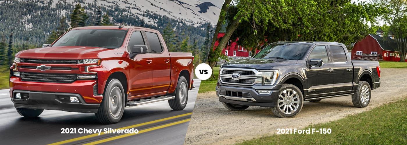 2021 Chevy Silverado 1500 vs. 2021 Ford F-150