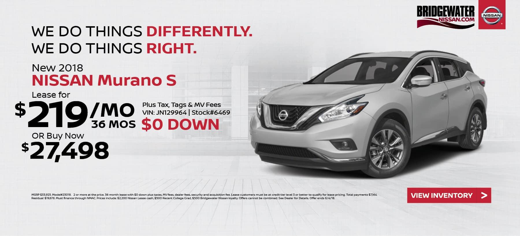 Nissan_Murano Bridgewater Nissan May Homepage Offer