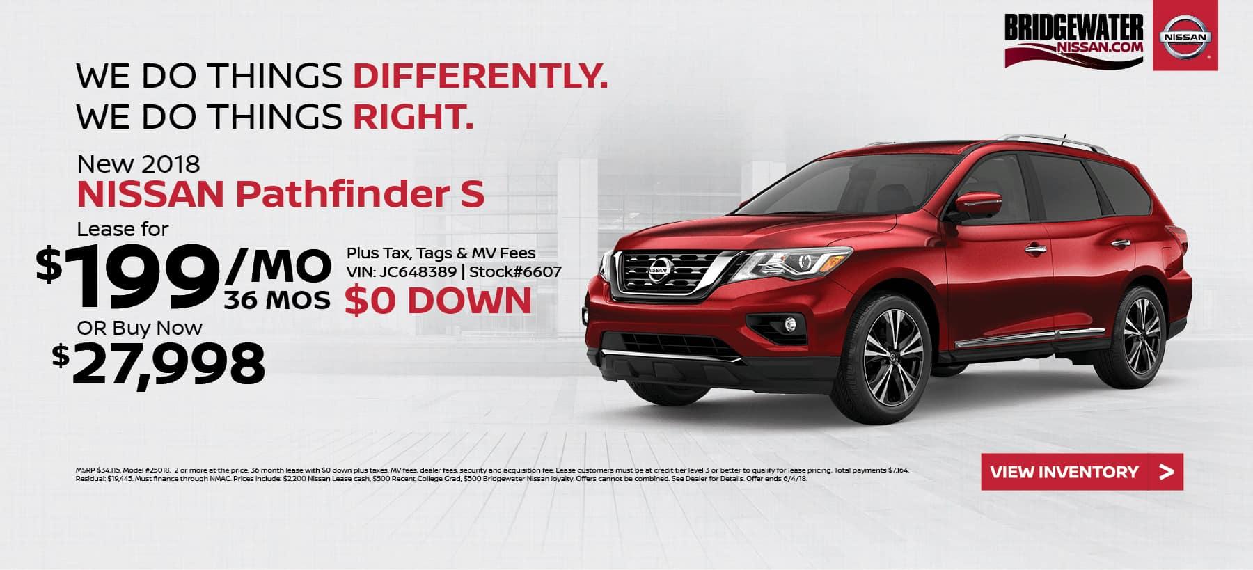 Nissan_Pathfinder Bridgewater Nissan May Homepage Offer