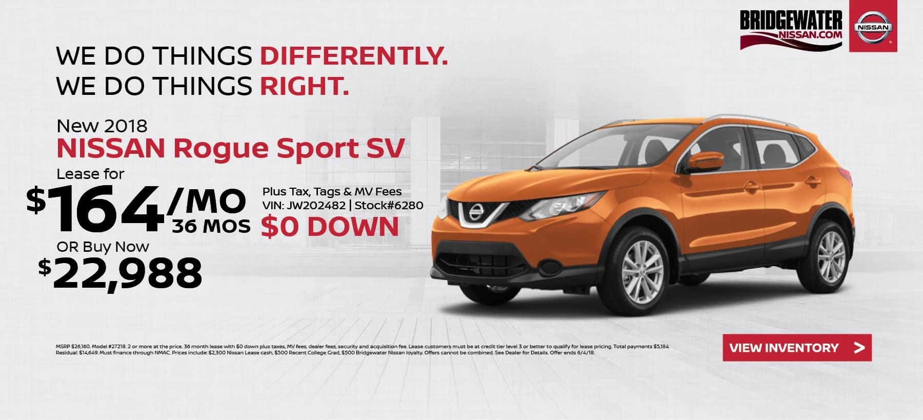Nissan_RogueSport Bridgewater Nissan May Homepage Offer