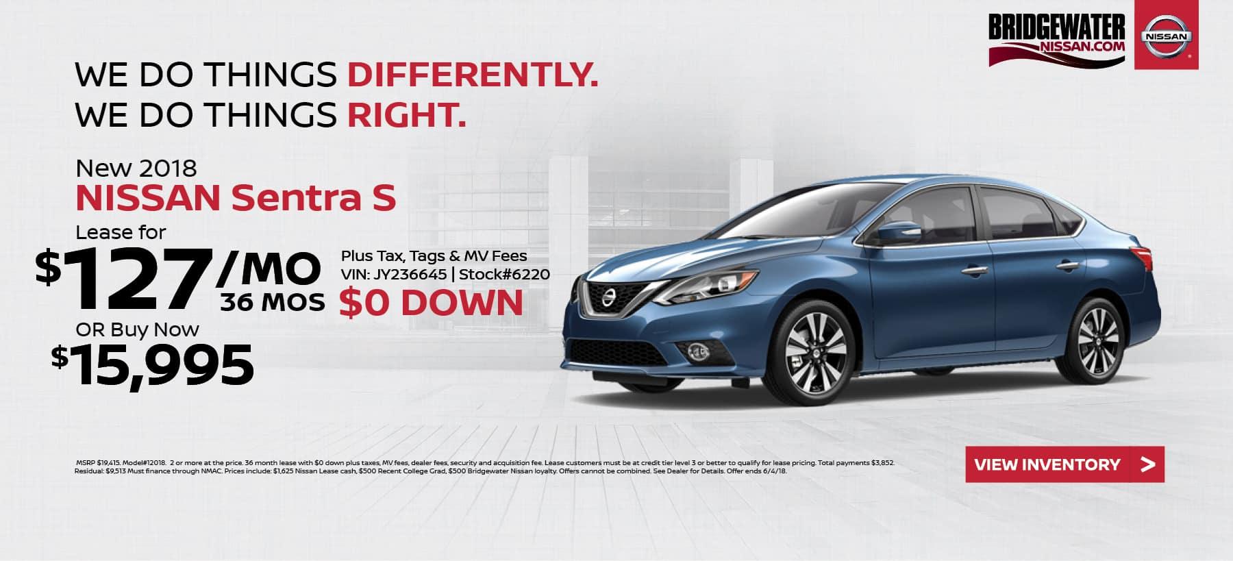 Nissan_Sentra Bridgewater Nissan May Homepage Offer