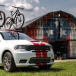 2019 Dodge Durango SRT in front of patriotic barn