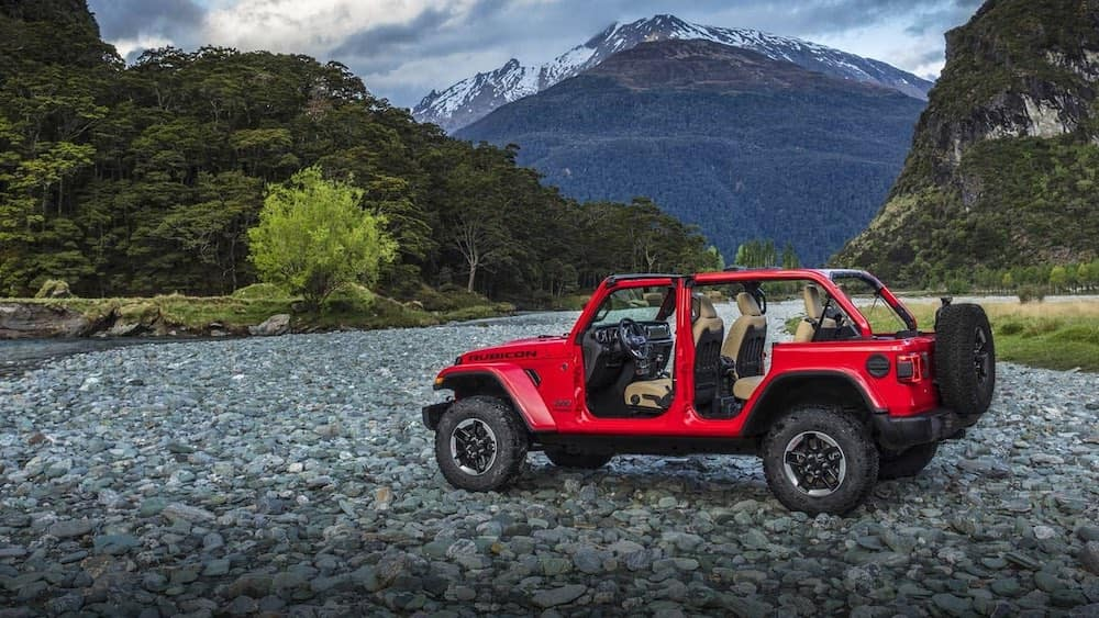 2019 Jeep Wrangler Rubicon with doors off and top off