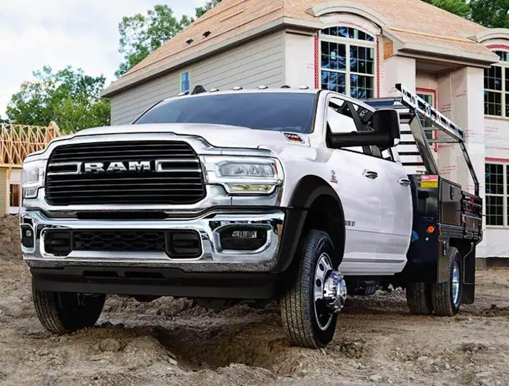 2019 RAM 5500 chassis cab on the jobsite