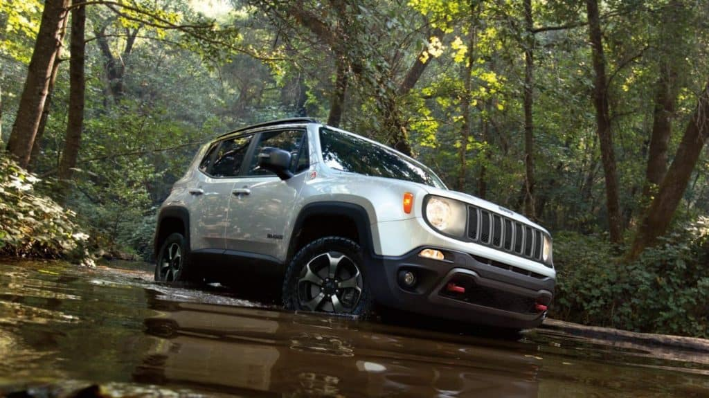 2020 Jeep Renegade in swamp