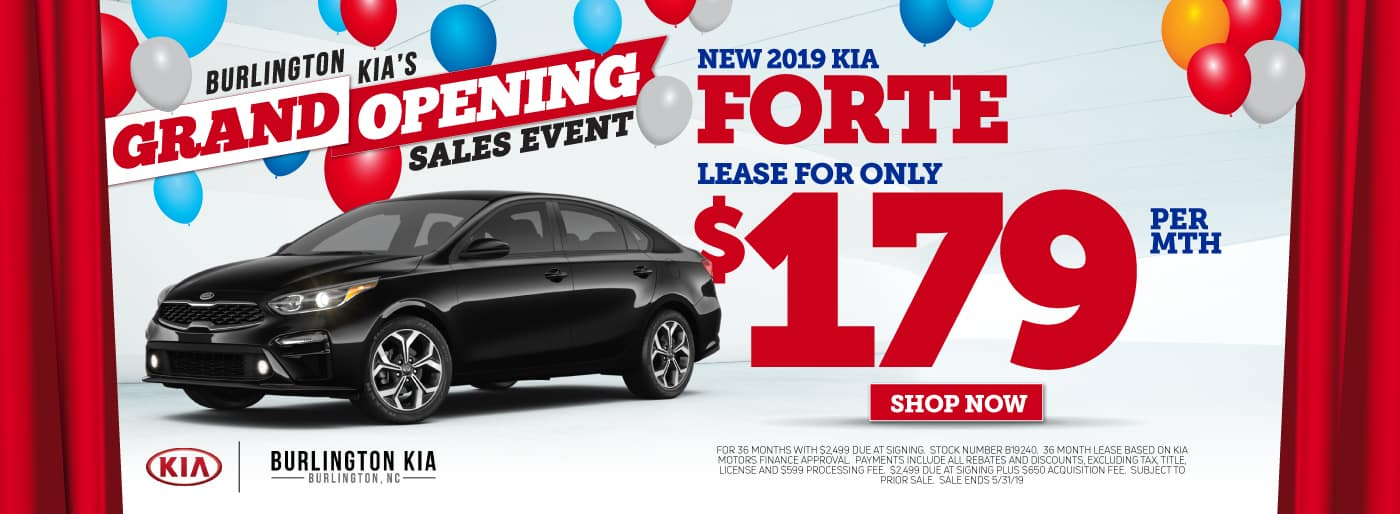 2019 KIA Forte Lease and Specials in Burlington North Carolina