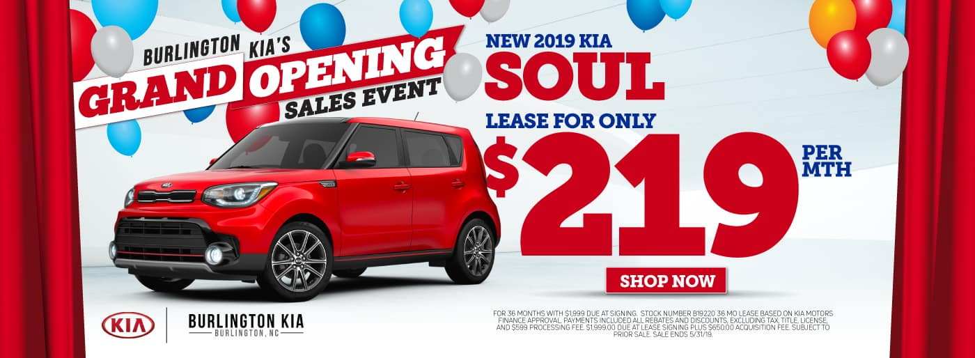 2019 KIA Soul Lease and Specials in Burlington North Carolina