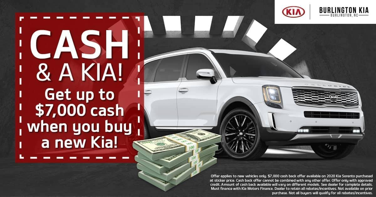 Burlington Kia Cash & A Kia Offer