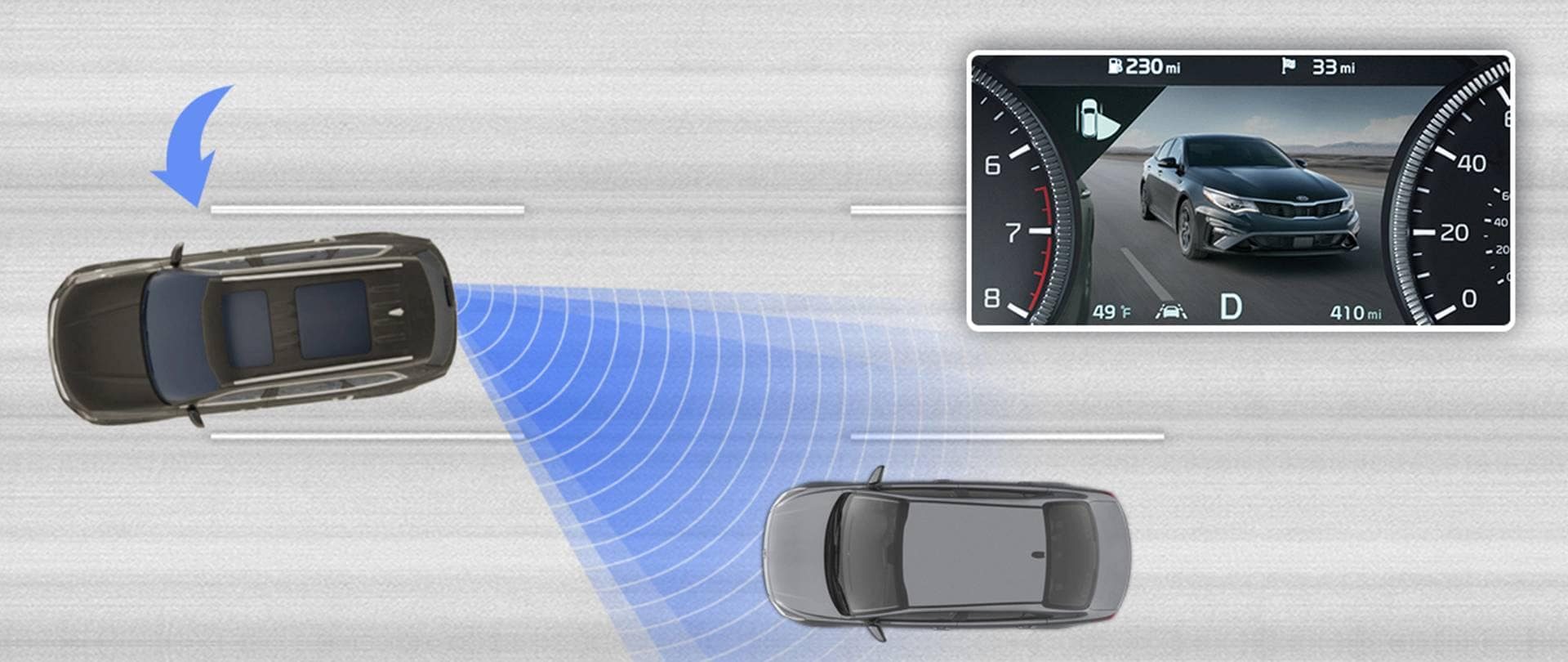Blind-Spot Collision View Monitor (BVM)