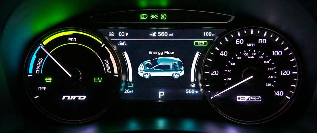 Kia All Electric dashboard panel