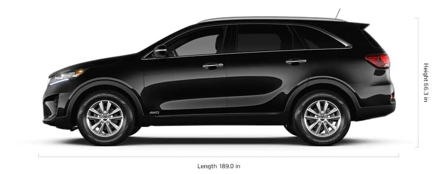 2020 Kia Sorento length and height
