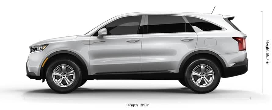 2021 Kia Sorento length and height