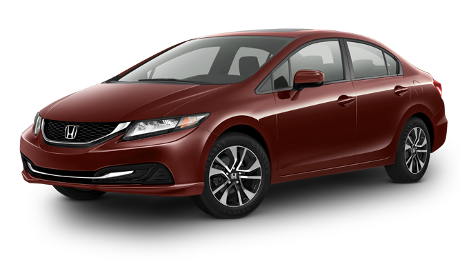 2015 Civic Sedan EX red