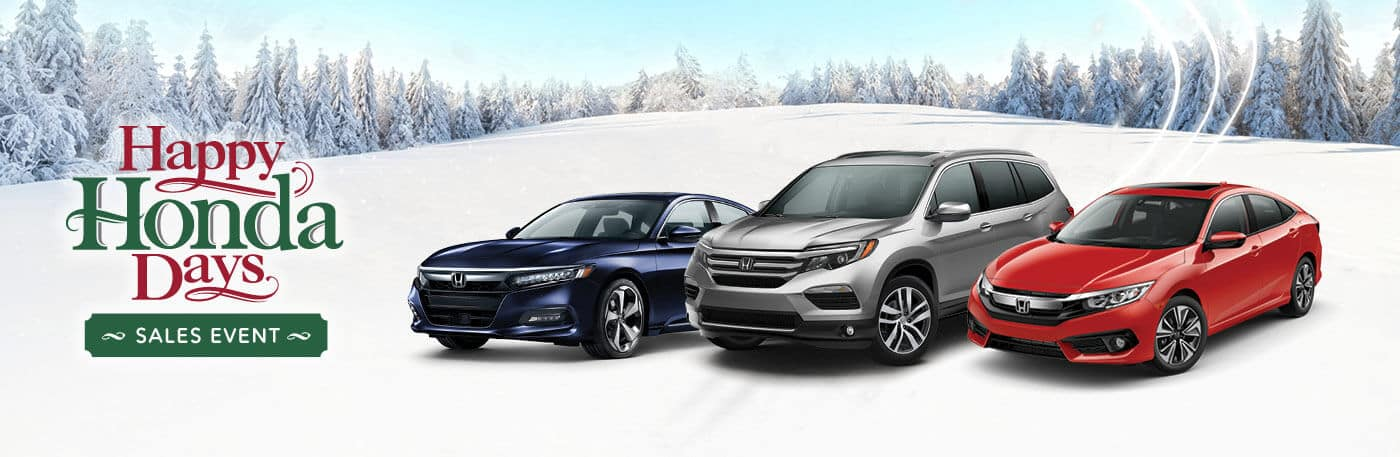 Happy Honda Days Sales Event at your Capital Region Honda Dealers