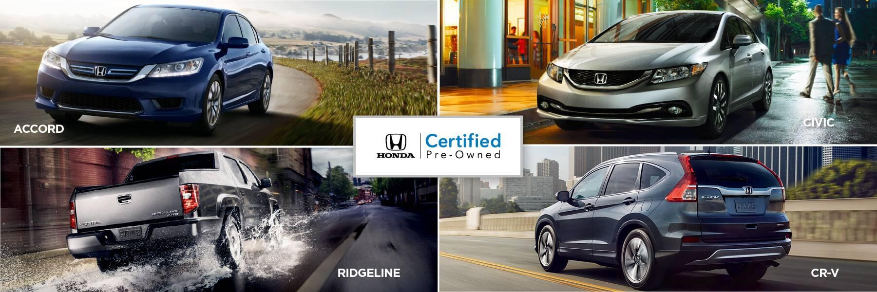 Honda Certified Pre-Owned Vehicles