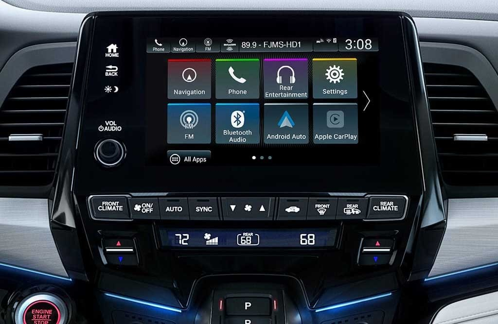 2018 Honda Odyssey 8inch Display Screen