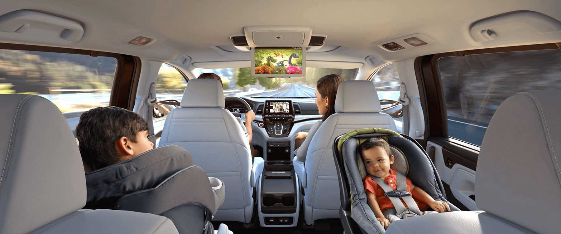 2018 Honda Odyssey Rear Seat View of Entertainment