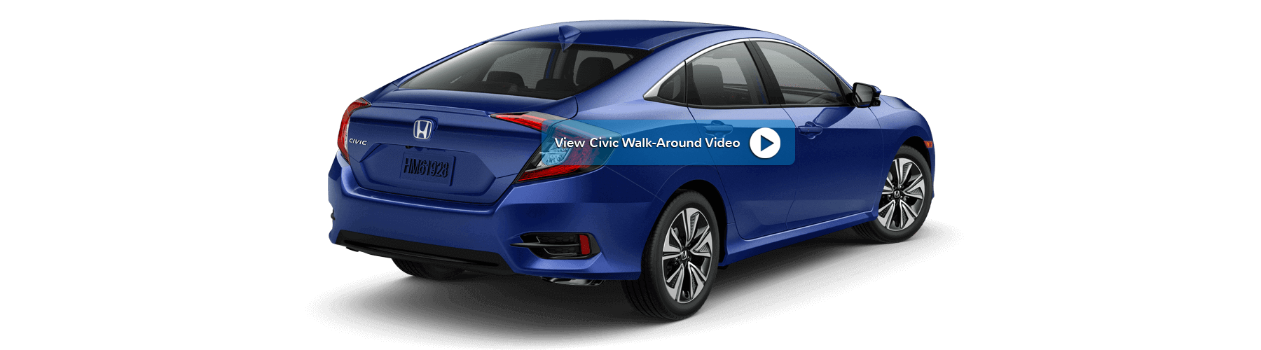 2018 Honda Civic Sedan Rear Angle