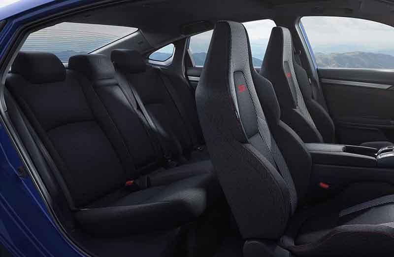 2018 Honda Civic Si Sedan Interior Seating Side View