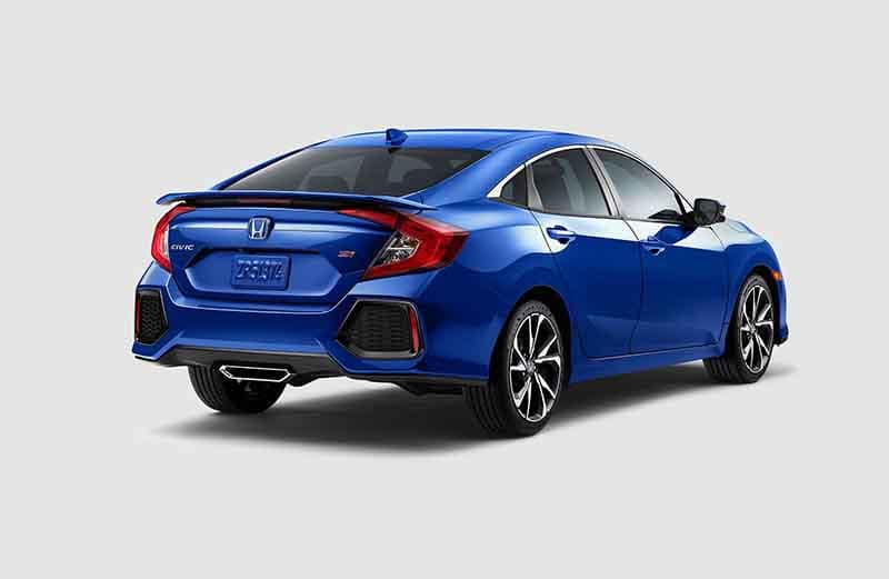 2018 Honda Civic Si Sedan Rear 3-4 Side Profile View