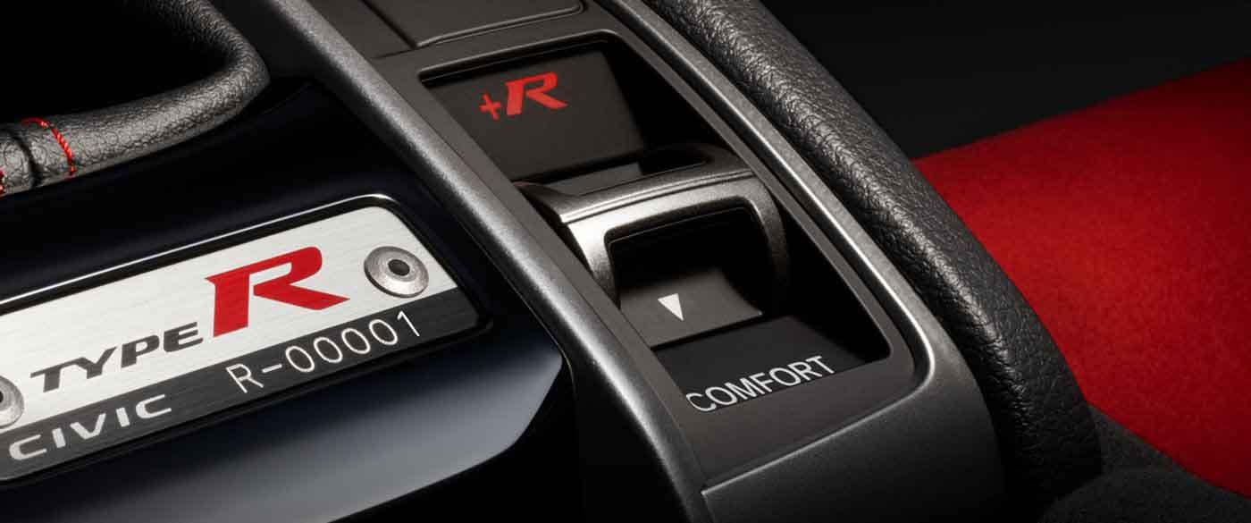 2018 Honda Civic Type R Driving Mode Controls