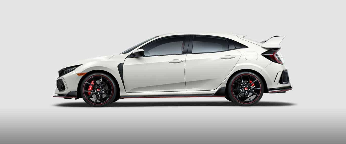 Side profile view of a 2018 Honda Civic Type R