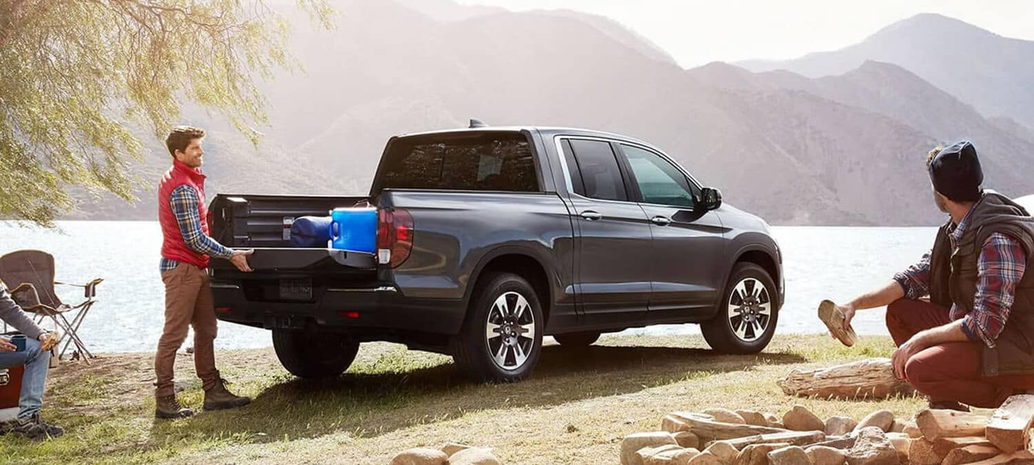 2019 Honda Ridgeline AWD Lake Rear Angle