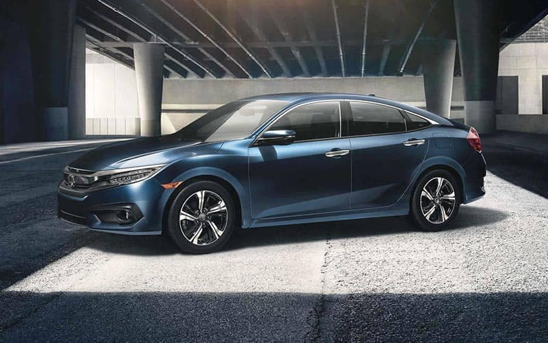 2018 Honda Civic Parked Under a Bridge