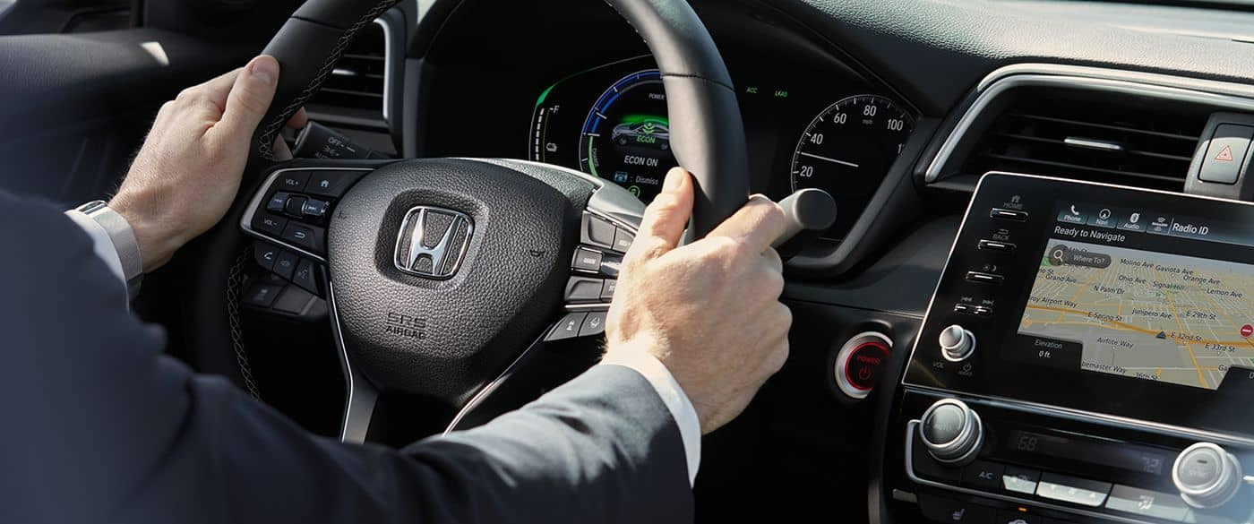2019 Honda Insight driver following navigation