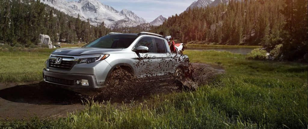 2019 Honda Ridgeline Off-Roading with Dirt Bikes in the Back