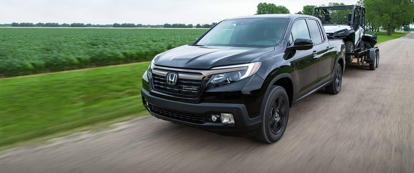 2019 Honda Ridgeline Towing a Off-Roading Vehicle