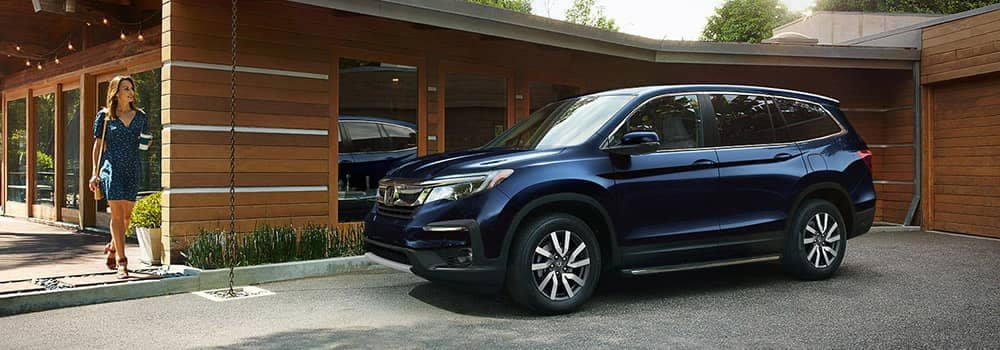2018 Honda Pilot Parked Outside Home