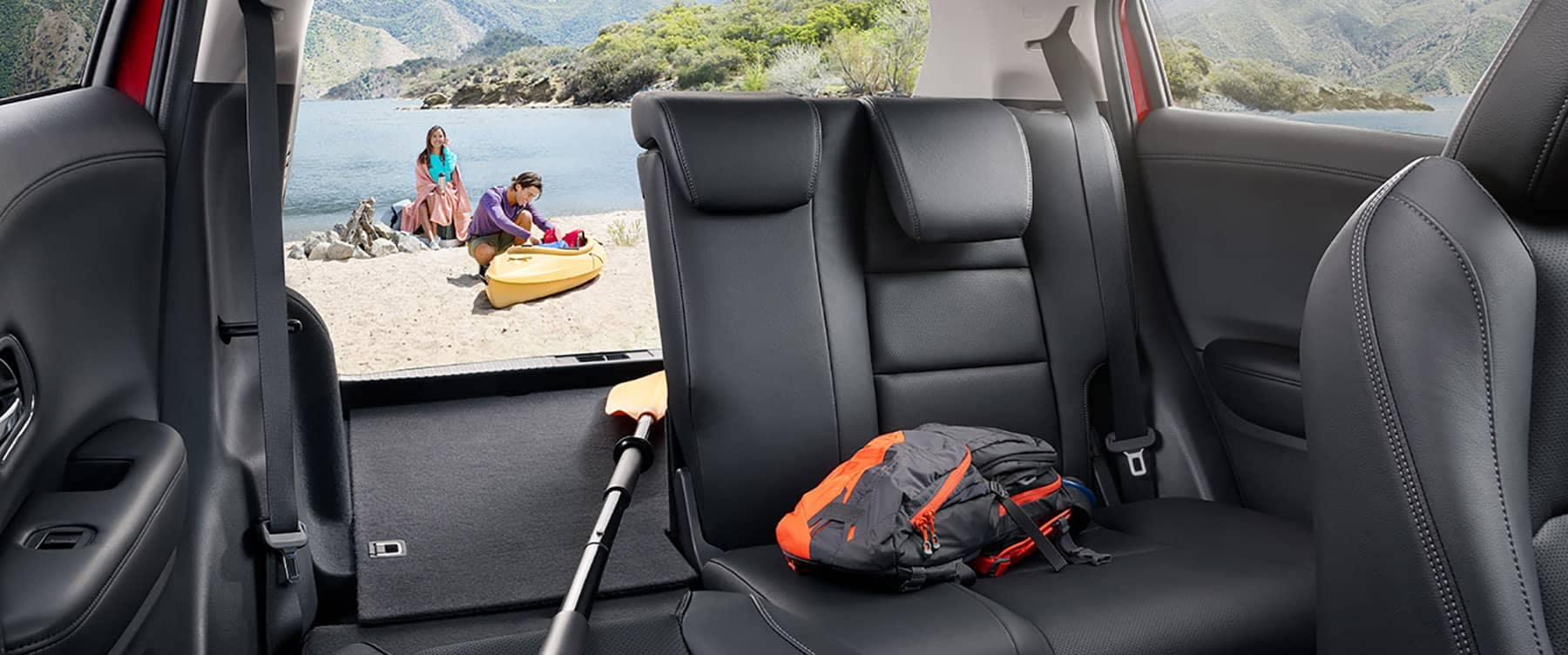 2019 Honda HR-V parked at beach with cargo area open