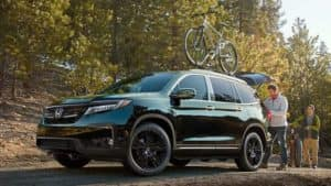 2019 Honda Pilot Parked at Bike Trails