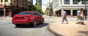 2019 Honda Accord Turning a Corner in the City