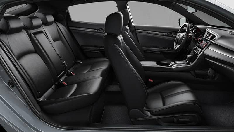 2019 Honda Civic Hatchback Leather Seating