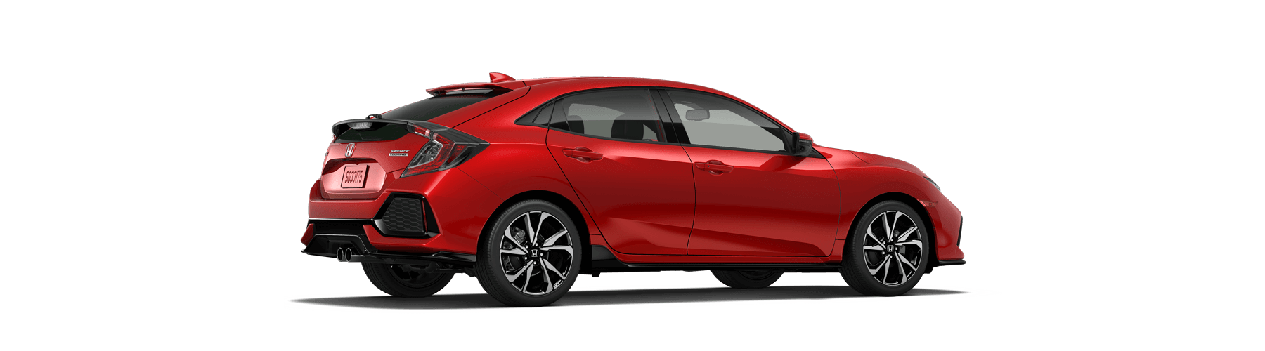 2019 Honda Civic Hatchback Rear Angle