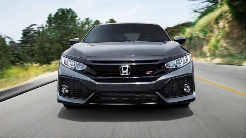 2019 Honda Civic Si Sedan Driving Front End View