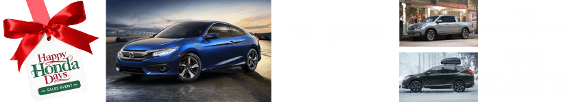 Capital Region Honda Dealers Happy Honda Days 90-Day Deferment