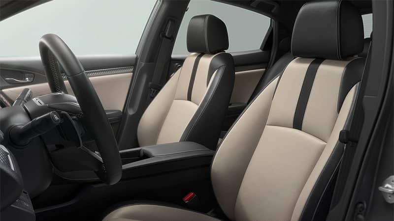 2019 honda civic hatchback interior front seating sport touring