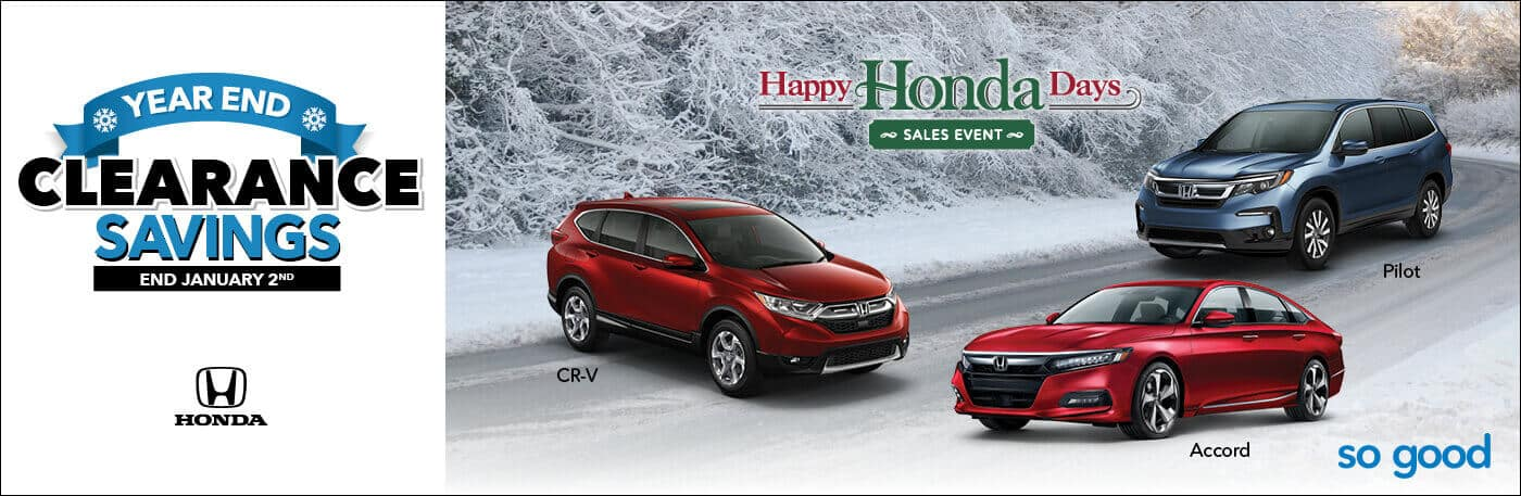 Happy Honda Days Sales Event Year End Clearance Banner