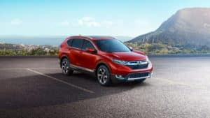 2019 Honda CR-V Red Mountain Background