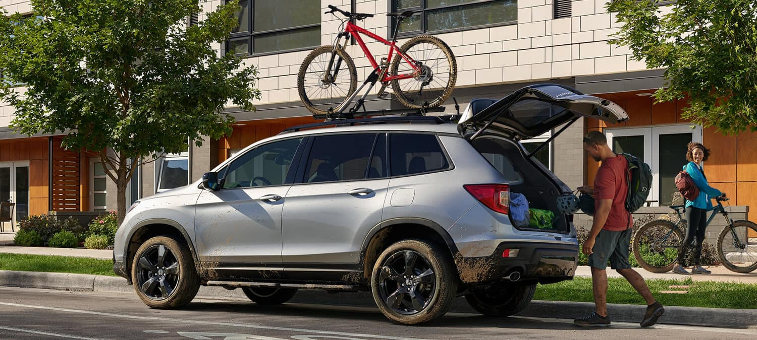 2019 Honda Passport AWD Exterior Side Angle Open Tailgate