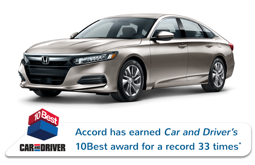 2019 Honda Accord Sedan Car and Driver Award Image