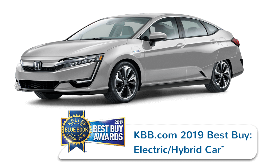 2019 Honda Clarity Plug-In Hybrid Kelley Blue Book Award Image